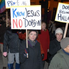 """""""Know Jesus No Dobson"""" & """"Dobson Belongs in the Hall of Shame"""""""